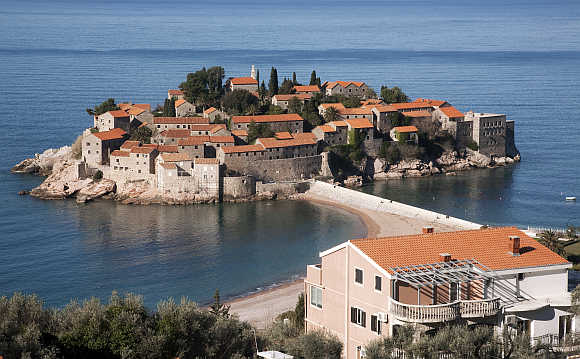 Sveti Stefan, a seaside resort on the Adriatic Sea.