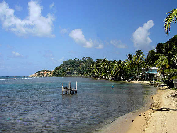 A view of Calibishie, Dominica.
