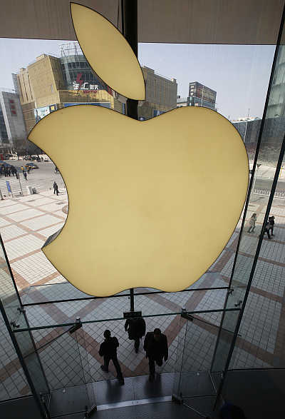 Apple's logo at its store in Beijing, China. Apple is one of the best-known brands in the world.