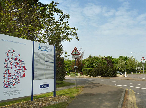 CambridgeSciencePark main entrance
