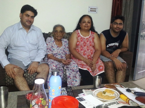 Gopal verma with his family.