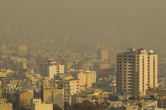 Smog over northwestern Tehran.