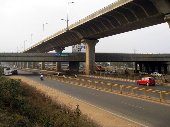The Junction of the Bangalore-Mysore Infrastructure Corridor and Bangalore Elevated Tollway.