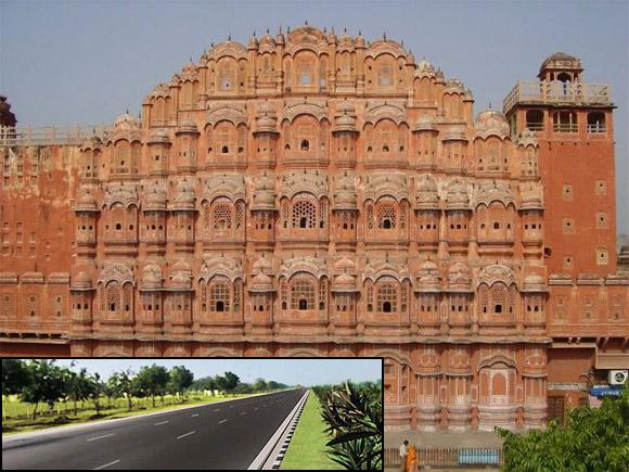 Jaipur-Kishangarh Expressway (Inset).