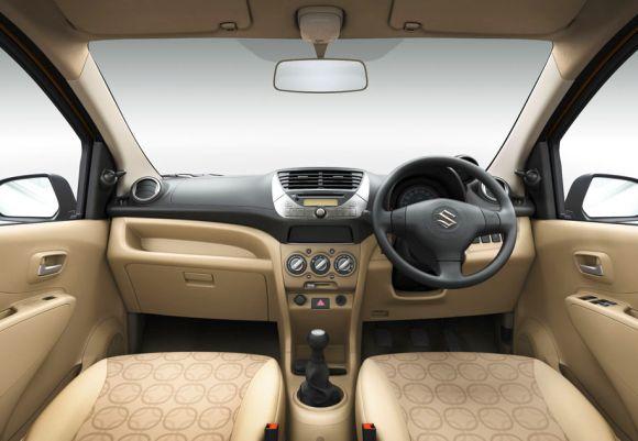 Maruti Suzuki A-Star interior.