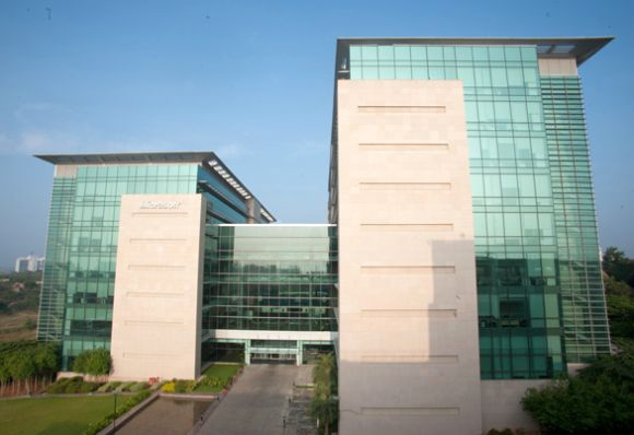 Microsoft Hyderabad Campus.