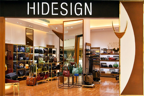 New Hidesign store in Chennai.
