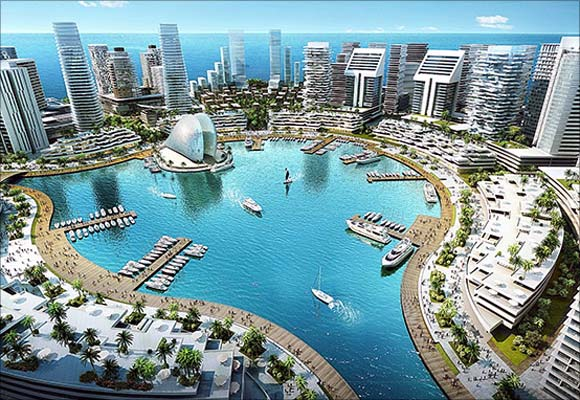 Centre piece of the Marina District of Eko Atlantic.
