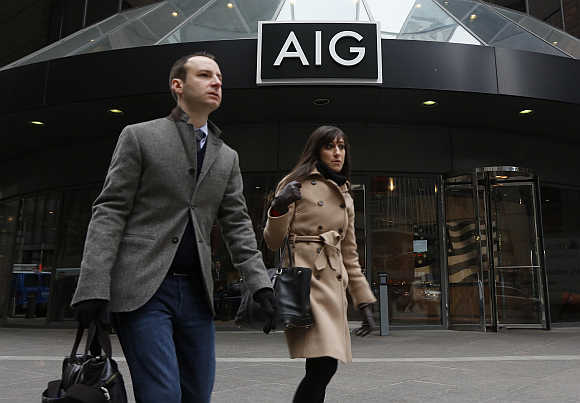 AIG headquarters in New York's financial district.
