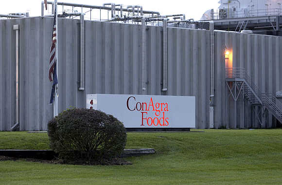 Exterior view of the ConAgra Foods's plant in Kansas City, Kansas.