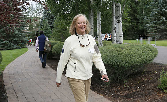 Hewlett-Packard CEO Meg Whitman at the annual Allen and Company conference in Sun Valley, Idaho.