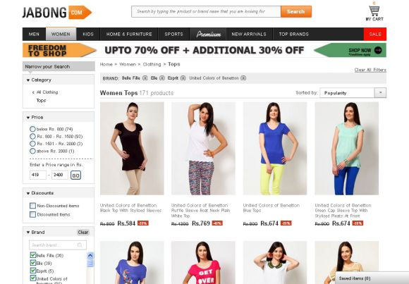 India's most popular online shopping websites