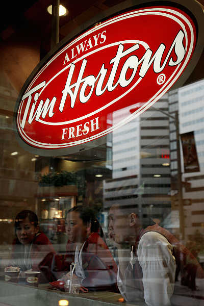 A Tim Hortons restaurant in Toronto, Canada.