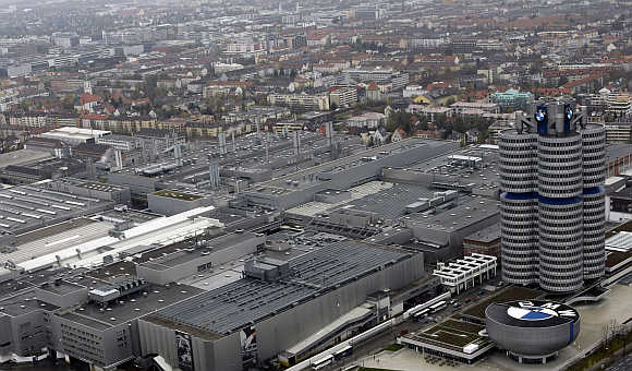 Headquarters of German luxury carmaker BMW in Munich, Germany.