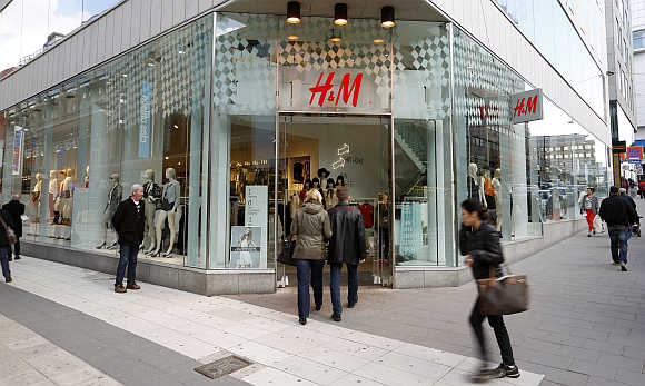 H&M's store in Stockholm, Sweden.