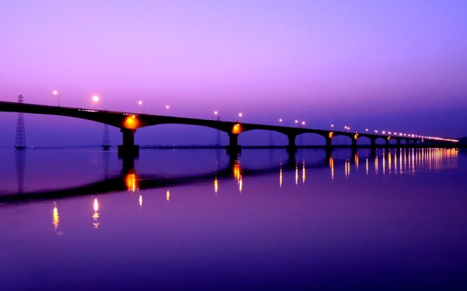 Kolia Bhomora Setu just after sunset.