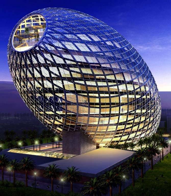 An EGG-shaped stunning office complex