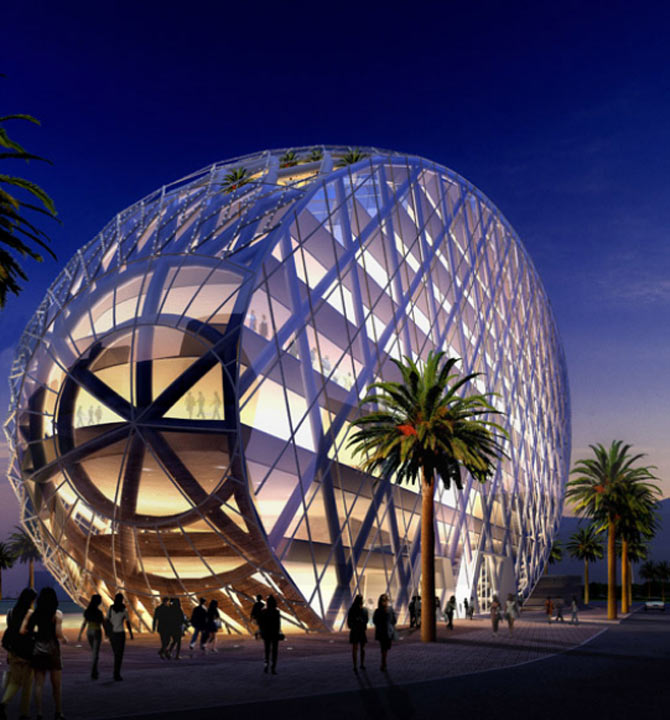 An EGG-shaped stunning office complex