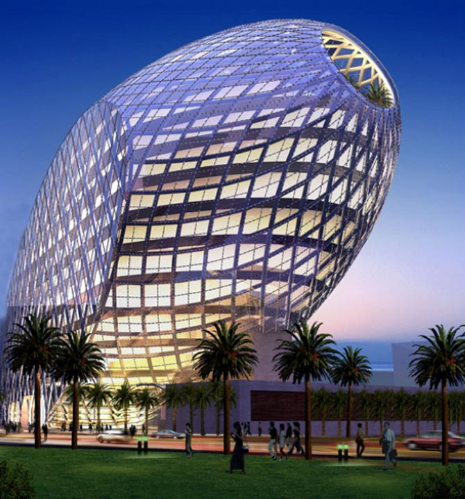 An EGG-shaped stunning office complex in Mumbai