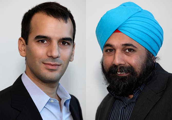 Tasso Argyros, left, and Mayank Bawa, right.