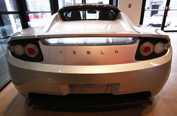 Tesla car in New York.