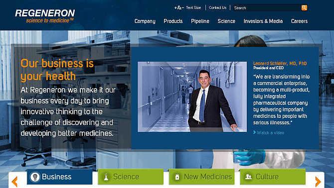 Regeneron Pharmaceuticals.