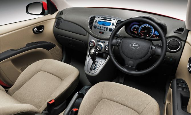 Interior of Hyundai i10.