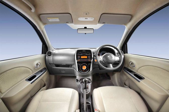 Interior of Nissan Micra.