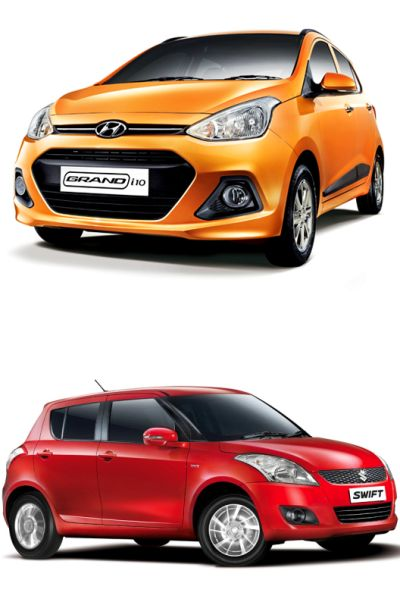 Hyundai Grand i10 (above) and Maruti Suzuki Swift.