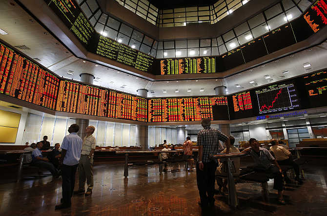 Investors monitor stock market prices in Kuala Lumpur, Malaysia. Photo is for representation purpose only.