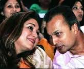Tina and Anil Ambani