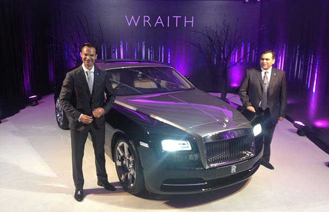 Wraith of Rolls-Royce at Rs 4.6 crore