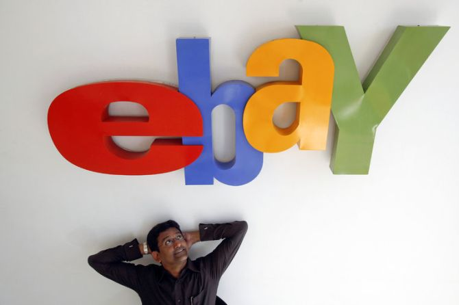 Muralikrishnan B., eBay India's Country Manager, poses for a photo at the company's head office in Mumbai.