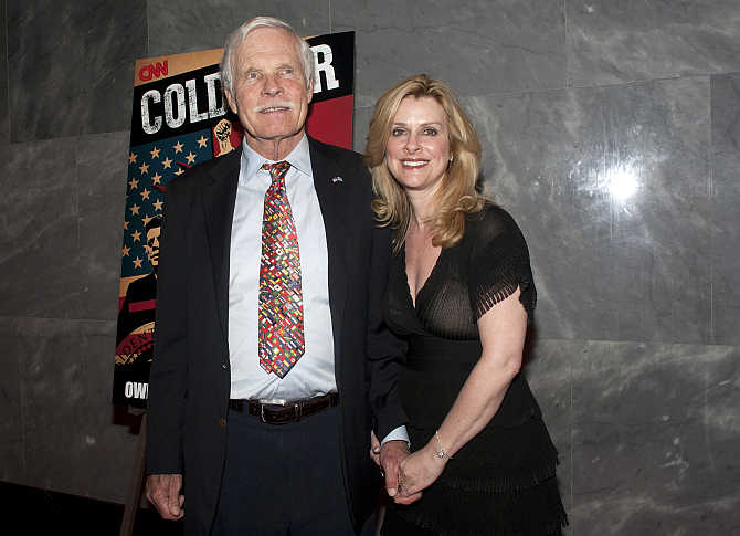 Ted Turner with girlfriend Cynthia MacDonald in New York.
