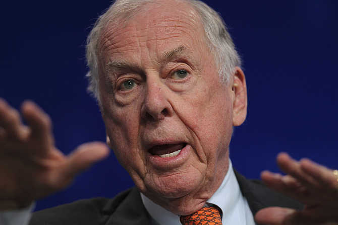 T Boone Pickens in Beverly Hills, California.