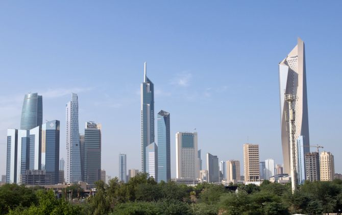 A general view of Kuwait City.