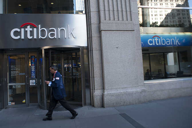 Citibank branch in New York.
