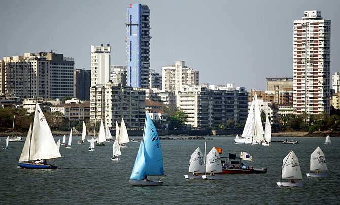 An international boat show in Mumbai.