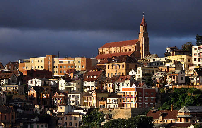 Madagascar's old colonial church in the capital Antananarivo.
