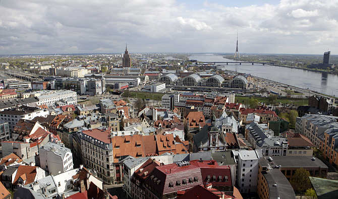 A view of Riga in Latvia.