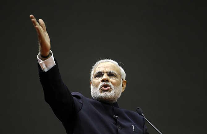 Narendra Modi in Gandhinagar, Gujarat.