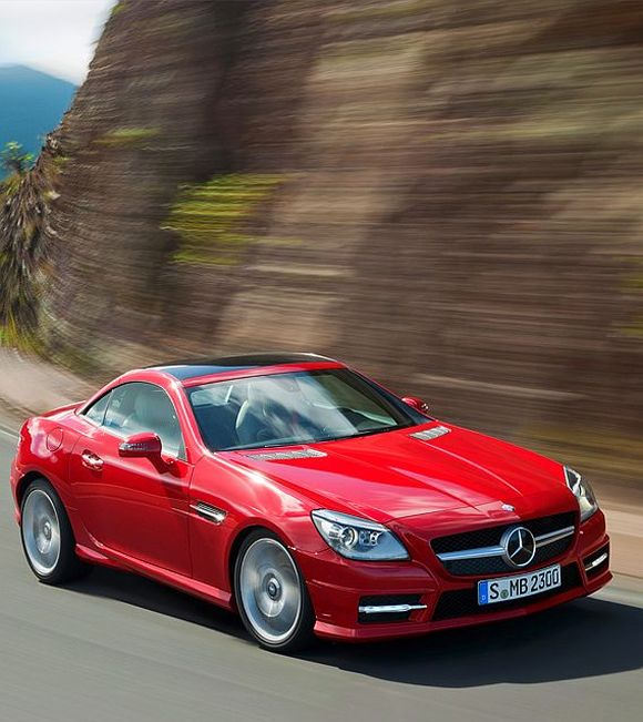 Mercedes Launches Slk 55 Amg Priced At Rs 1 26 Crore