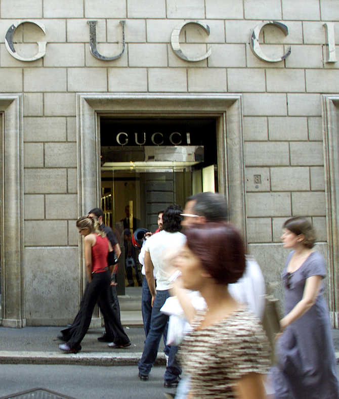 A Gucci shop in central Rome, Italy.