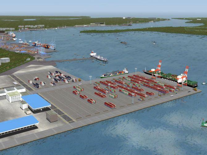 Dredging at Mombasa Port.