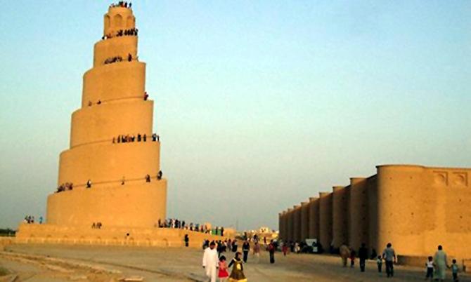Spiral Minaret of the Great Mosque in Samarra, Iraq.