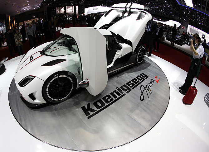 Koenigsegg Agera R in Geneva, Switzerland.