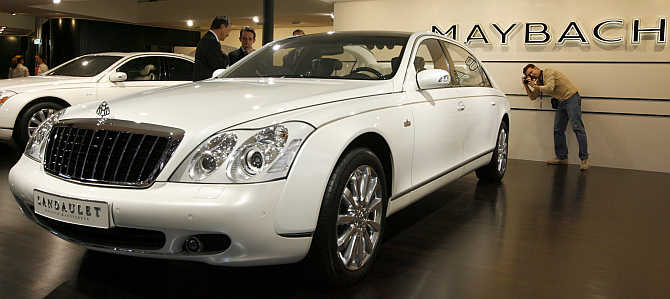 Maybach Landaulet in Geneva, Switzerland.