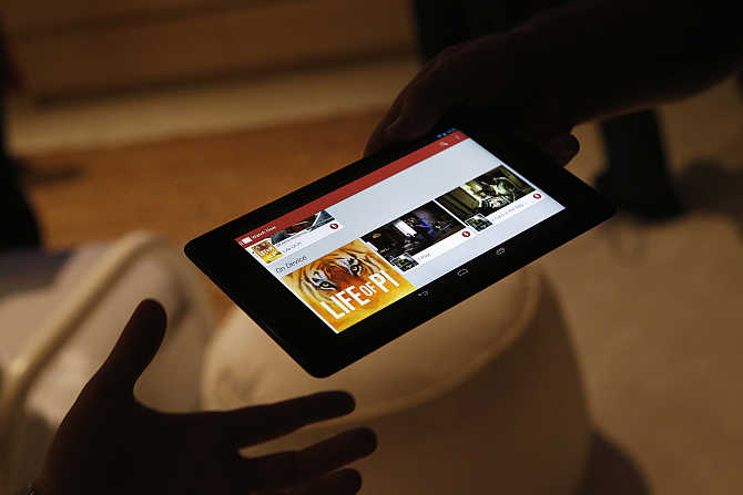 Nexus 7 tablet is demonstrated during a Google event at Dogpatch Studio in San Francisco, California.