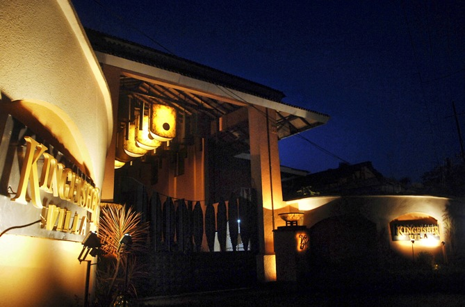 The exterior view of Kingfisher Villa is seen in Goa.