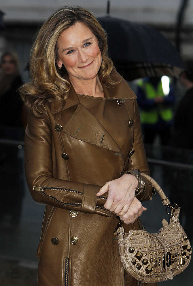 Burberry's former CEO Angela Ahrendts in London.